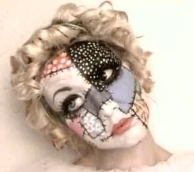 So... this is like a sewing project, right? I want to try this for Halloween. Patch Doll Makeup. Check the video http://youtu.be/3g1s2Xk9qhk