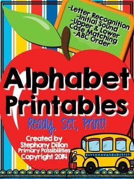 These printables are great for teaching letter recognition, initial sounds, letter formation, upper and lower case matching, and ABC order.  These printables are a life saver for Kindergarten and First Grade teachers!Included:~26 Letter Printables:  Students practice writing the letter, coloring pictures with that beginning sound, and highlighting the letter in a group of letters.~6 Upper & Lowercase ABC Missing Letter Printables:  Students plug in the missing letters of the…
