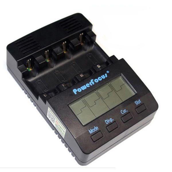 Powerfocus BC1000 2.0 Version Digital LCD Display NiMH/AA/AAA Battery Charger 4Slots