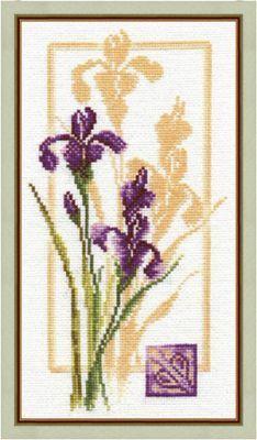 """Cross-stitch kit Zolotoe Runo """"reflection of the iris"""""""