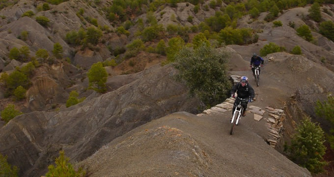 ATB of mountainbike routes in de Spaanse Pyreneeen