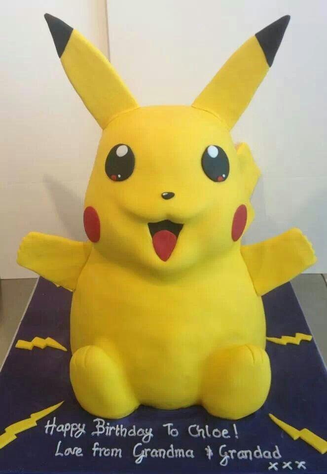Pikachu Birthday Cake Pikachu cake:) | Pikac...