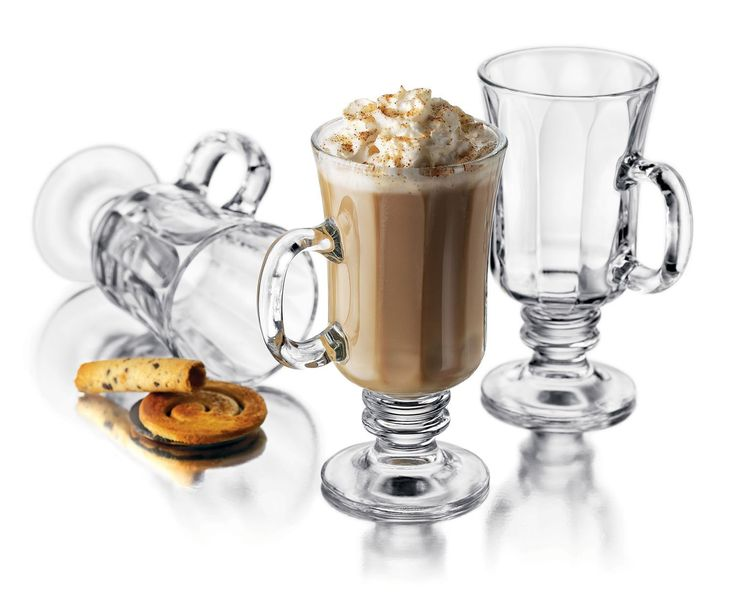 Amazon.com | Libbey Milan 8-1/4-Ounce Irish Coffee Mug in Optic, 4-Piece Set: Irish Coffee Glasses: Irish Coffee Glasses