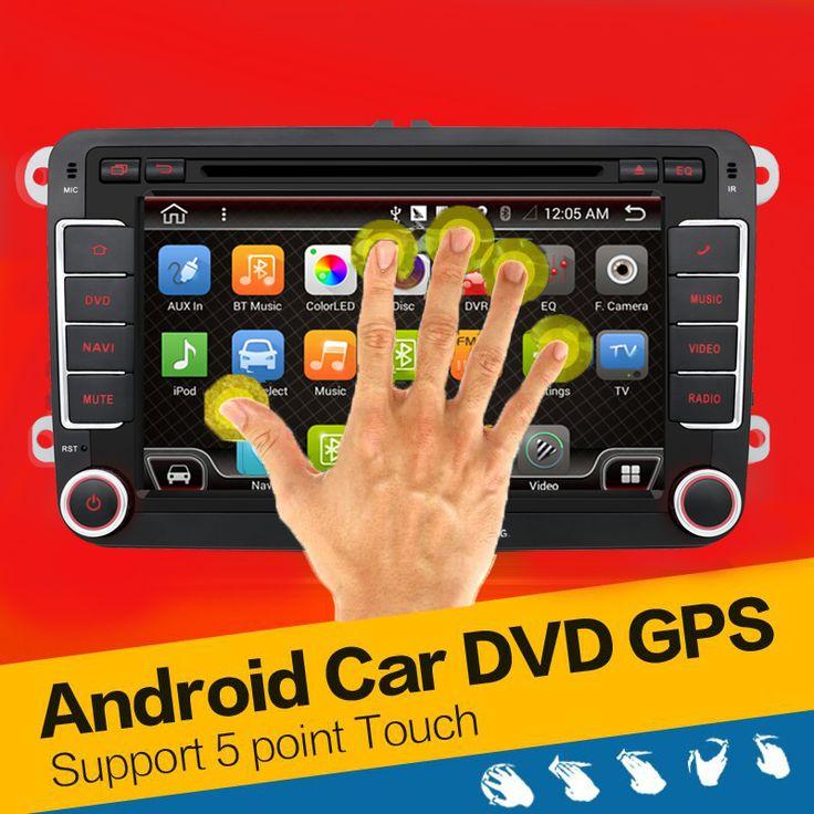 Quad Core Android 4.4 mobil dvd player gps 2Din 7 Inch Untuk Volkswagen VW Skoda POLO PASSAT B6 CC TIGUAN GOLF 5 Fabia Wifi Cam 1080