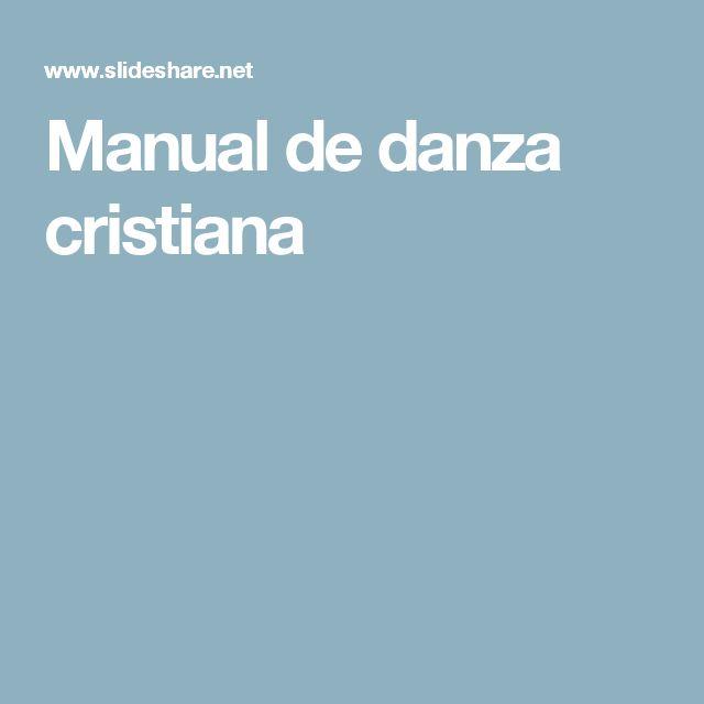 Manual de danza cristiana