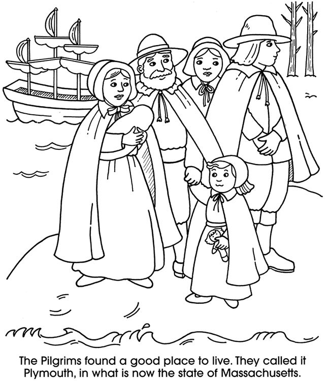 coloring pages for pilgrims - photo#28
