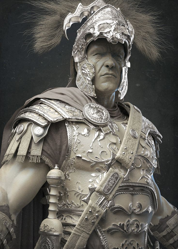 Keyshot Clay renders of The Centurion. This character is featured in the cover of 3D Artist Magazine Issue #80