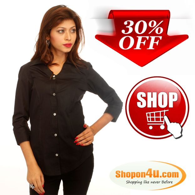 Black Corporate Cotton shirt With Swarovski Crystal Logo Buy ...