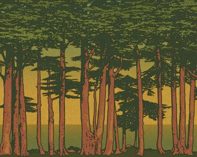 """Lands End"" poster by Bradbury & Bradbury, #bradburywallpaper"