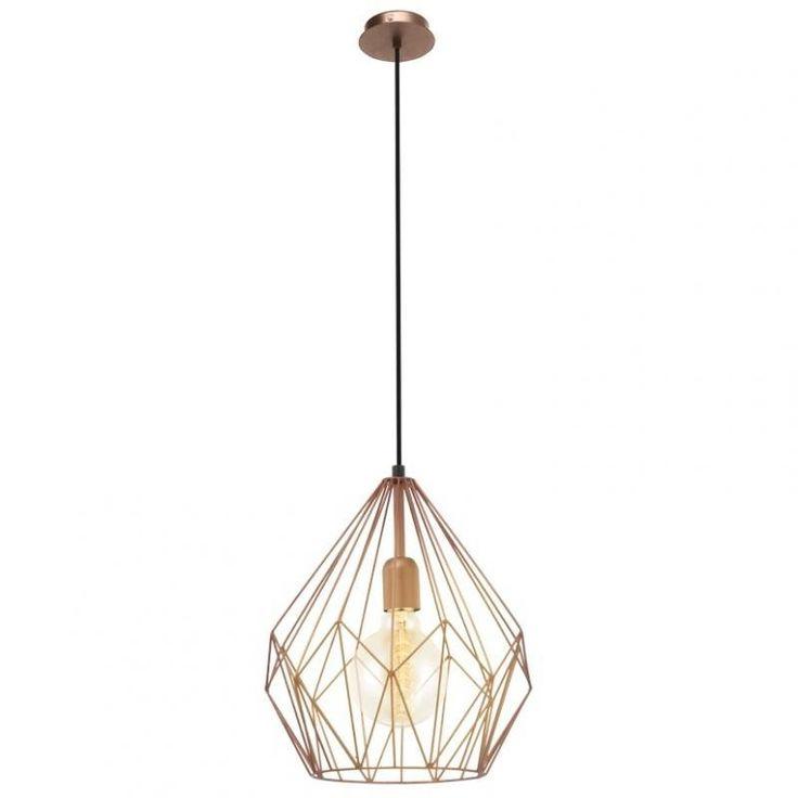 Lustra, Pendul Industrial Style, finisaj cupru, diam.31cm, Vintage 49258 EL - Corpuri de iluminat, lustre, aplice