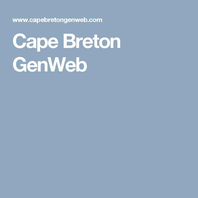 Cape Breton GenWeb