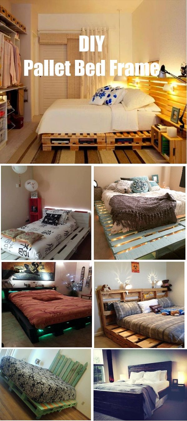 28 DIY pallet bed frame design and ideas