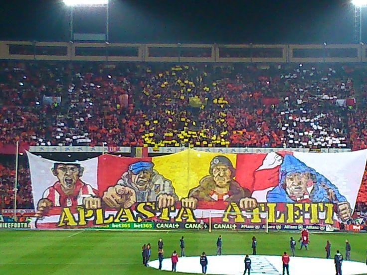Preparación del Tifo realizado por el Frente Atleti ¡¡¡ APLASTA ATLETI !!! #Atleti