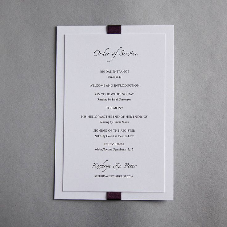 elegance wedding invitation by twenty-seven | notonthehighstreet.com