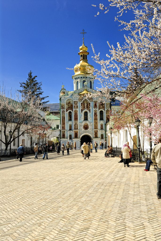 View on the Gate Church of the Trinity in Kievo-Pecherskaya Lavra, Kiev
