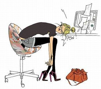 épuisé au bureau