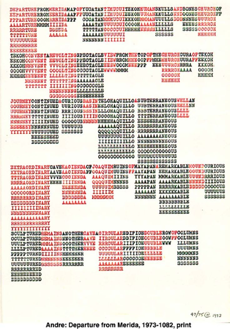 Ascii Art With this post we begin a series investigating the use of the typed text as an artistic medium. To be honest the first post in this series appeared in 2011 with a single image from one work by Hendrick Nicolas Werkman, Dutch artist, typographer and printer, arguably one of the first to use the...
