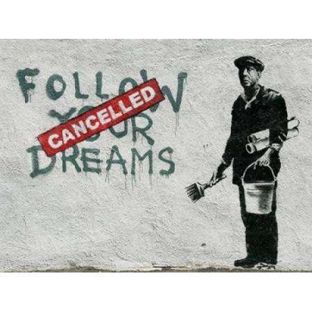 Posterazzi Essex Street Boston-graffiti attributed to Banksy Canvas Art - Anonymous (22 x 28)