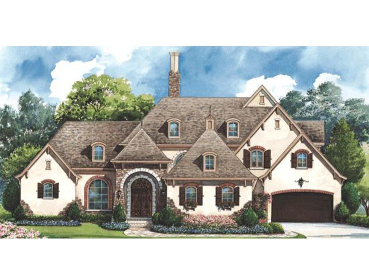 8 best images about story book old world elevations for 2 story european house plans