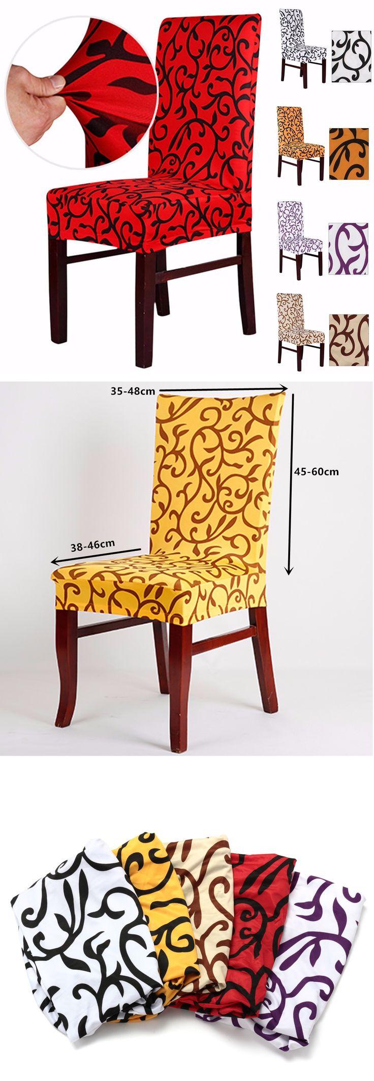 Elegant spandex elastic stretch chair seat cover computer for Gimnasio 9 y 57