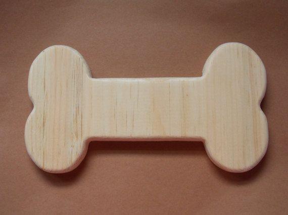 Dog Bone Unfinished Wood Plaque by MumkenzGiftShop on Etsy