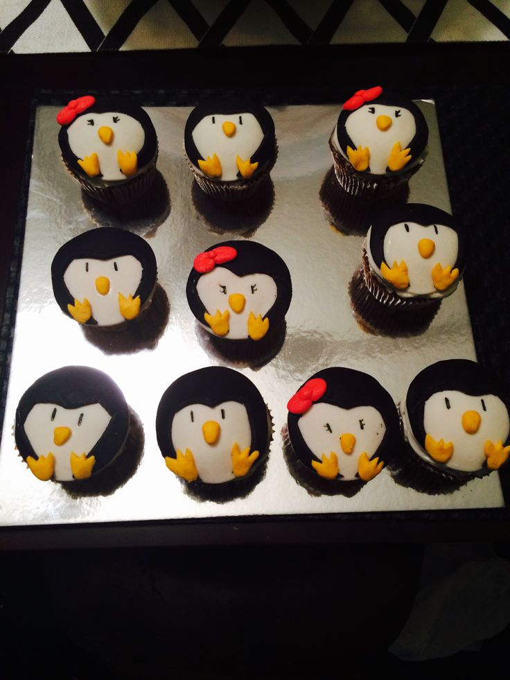 Pinguin cupcakes 1st time not that bad  made by me -vannesa