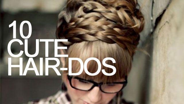 10 cute homemade hair styles - I need this!