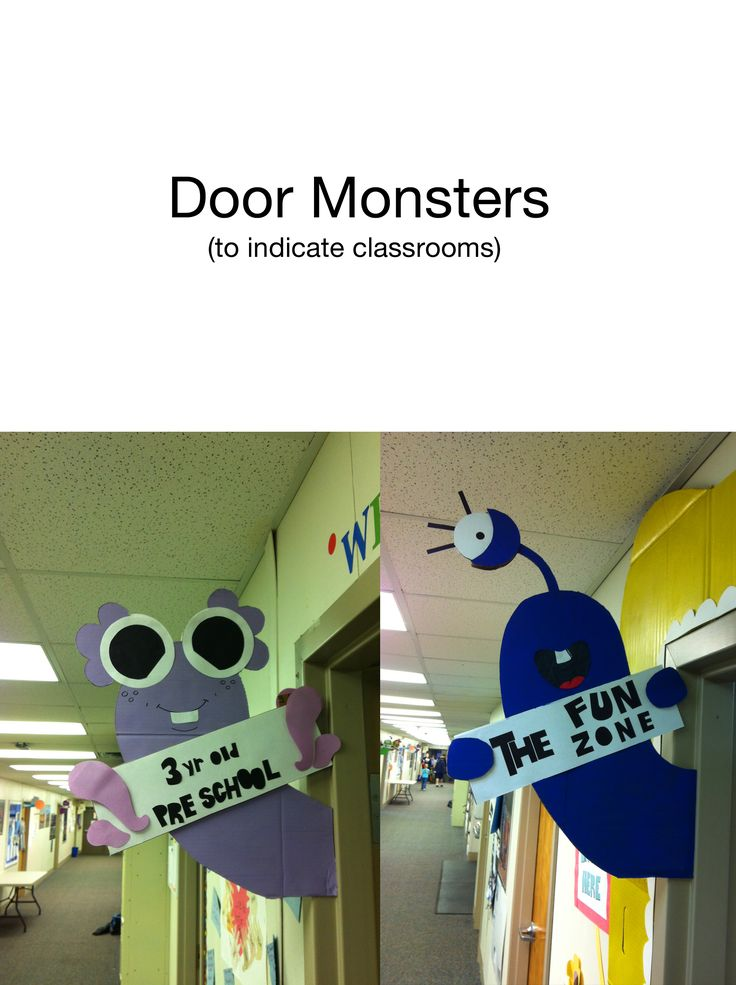 Door Monsters to mark grades and rooms