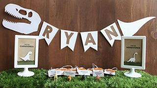 dinosaur party decorations | I made decorations for a dinosa… | Flickr - Photo Sharing!