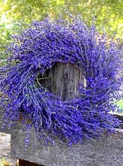 lavender wreath - for door - summer.