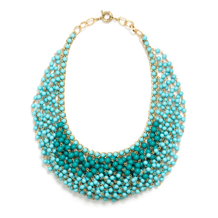 Pin to Win $500! Wear shades of mint around your neck with this statement necklace, Beaded Dreams. Enter here: https://www.facebook.com/justfab/app_137377669785610?ref=ts
