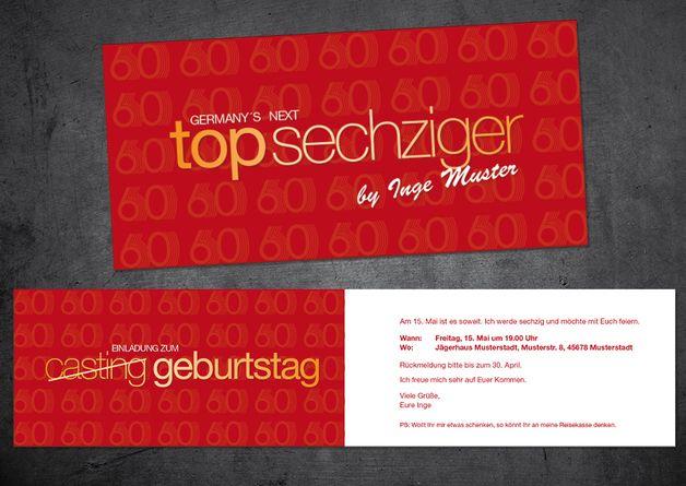 best 25+ einladungskarten 60 geburtstag ideas on pinterest, Einladungsentwurf