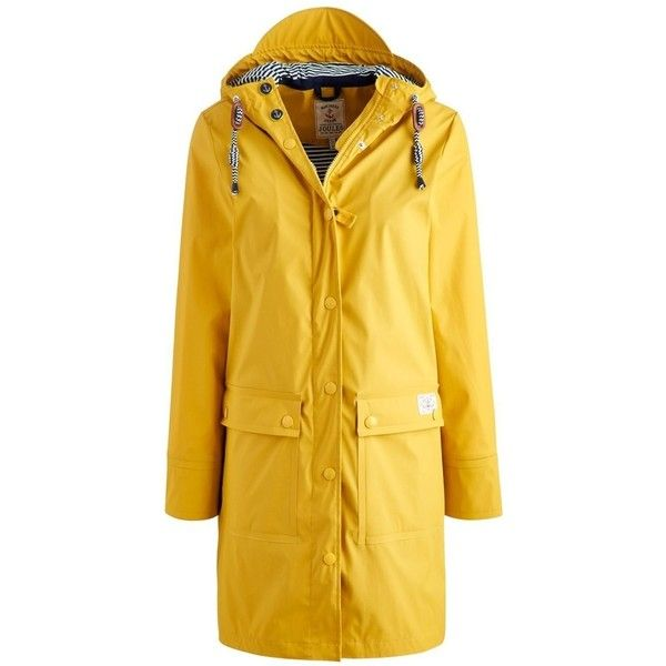 Women's Joules Seafarer Mac ($103) ❤ liked on Polyvore featuring outerwear, coats, joules coats, toggle coat and yellow coat