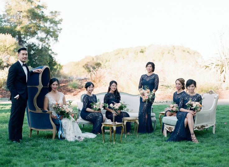 Romantic Modern Vintage Bridal Party // Photography ~ Trynh Photo