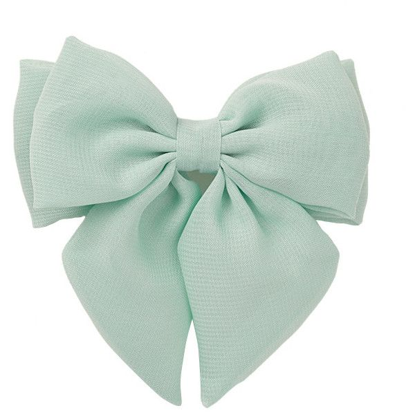 FOREVER 21 Chiffon Bow Barrette ($1.80) ❤ Liked On Polyvore Featuring  Accessories, Hair