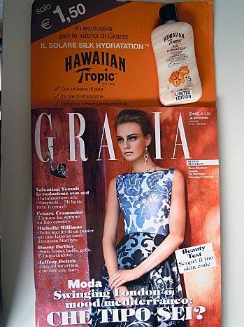 "GRAZIA + ""Silk Hydration"" by Hawaiian Tropic"