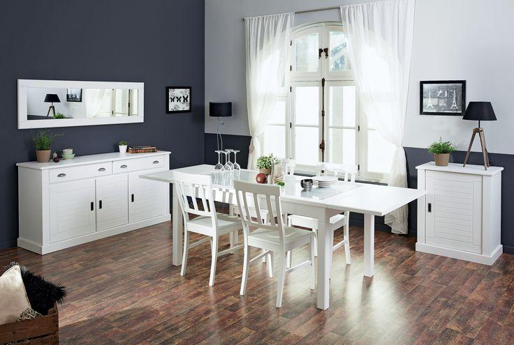 Stilul rustic alb cu linii curbate, traditionale sunt reinterpretate modern #kikaromania #dining #alb #romantic #mobilier #masa #decoratiuni #accesorii #lemn #toamna #emotie