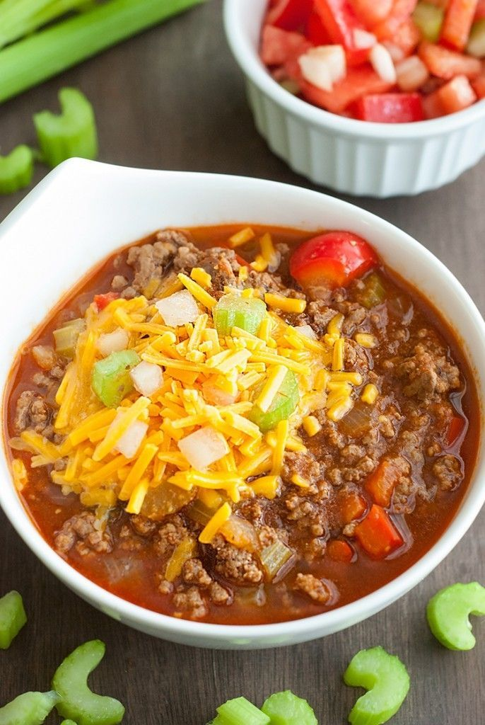 Low Carb Chili Recipe Low Carb Chili Low Carb Chili Recipe No Carb Diets