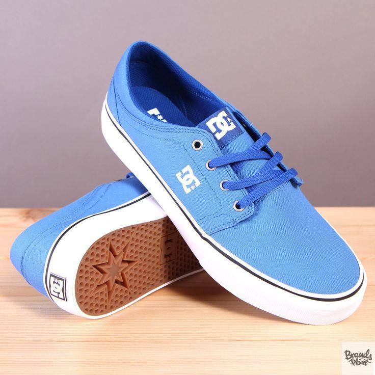 Niebieskie trampki męskie na białej podeszwie DC Trase TX Royal  / www.brandsplanet.pl / #dc shoes #dc trase