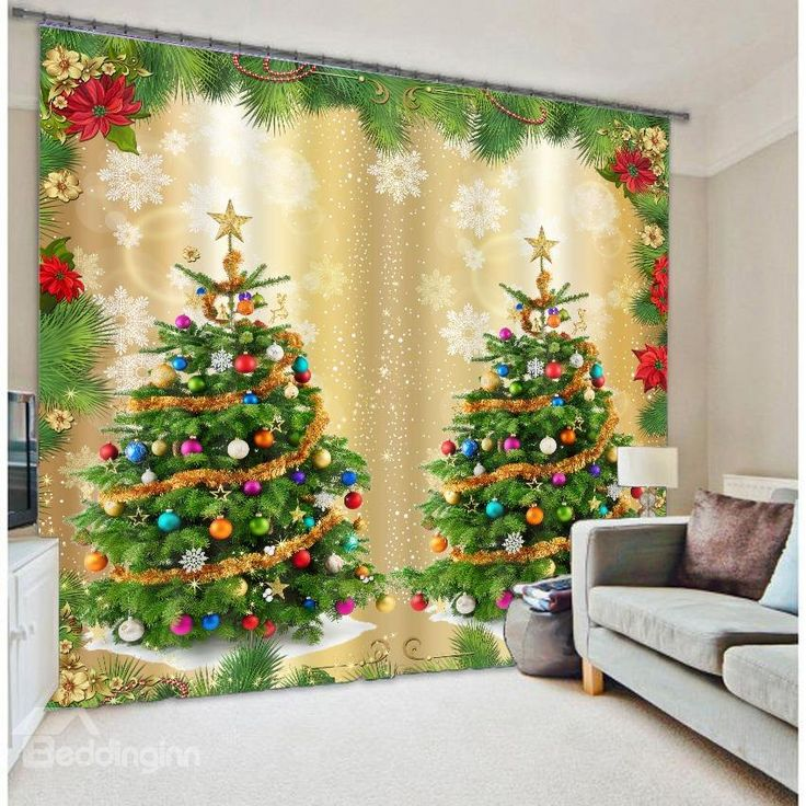 196 best 3d curtains images on pinterest floral curtains floral shower curtains and curtains for Christmas curtains for living room