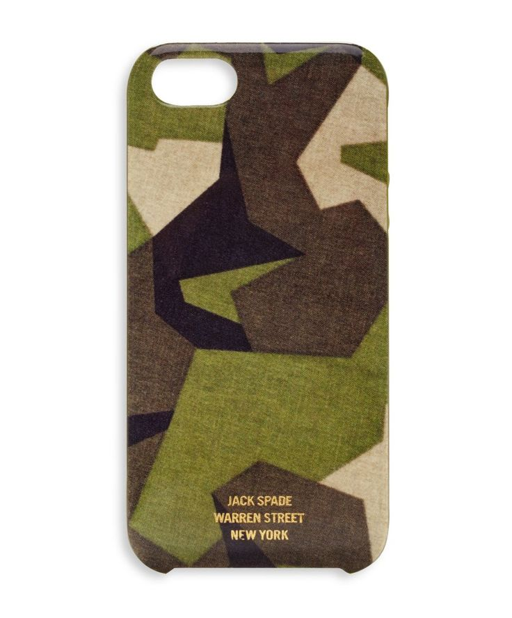 M90 Camo iPhone 5 hard case - Jack Spade. Love the geometric camo stylings here.