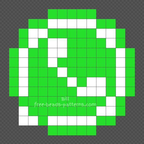 Whatsapp Logo Free Hama Beads Design 13x13 Pixel Art Hama Beads Design Minecraft Pixel Art