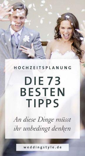 Hochzeitsplanung: 73 Profitipps vom Weddingplanner