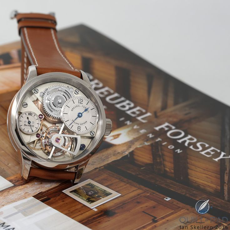 Le Garde Temps Naissance d'une Montre by Philippe Dufour, Greubel Forsey, and Michel Boulanger: this prototype just hammered for $1.4 million at Christie's Hong Kong