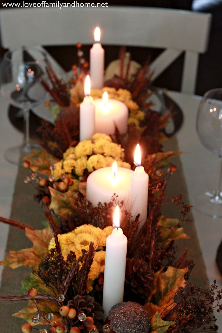 Love Of Family & Home: Teal & Yellow Fall Tablescape: Teal Yellow, Family Homes, Fall Decor, Families Home, Color, Tables Tops, Holidays Decor, Fall Tablescapes, Yellow Fall