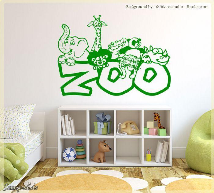 Luxury Wandtattoo Zoologo Zoo Tiere Elefant Giraffe L we