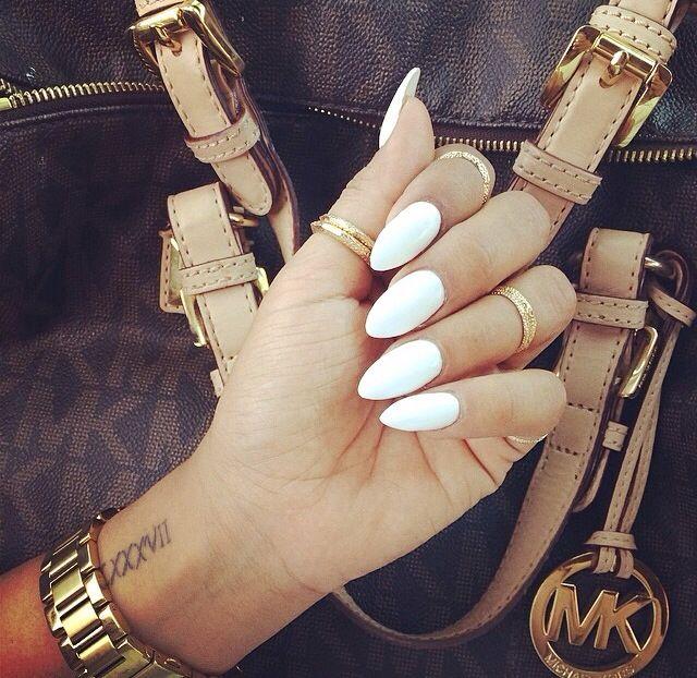 Pointy. White nails. Stilettos. New claws :)