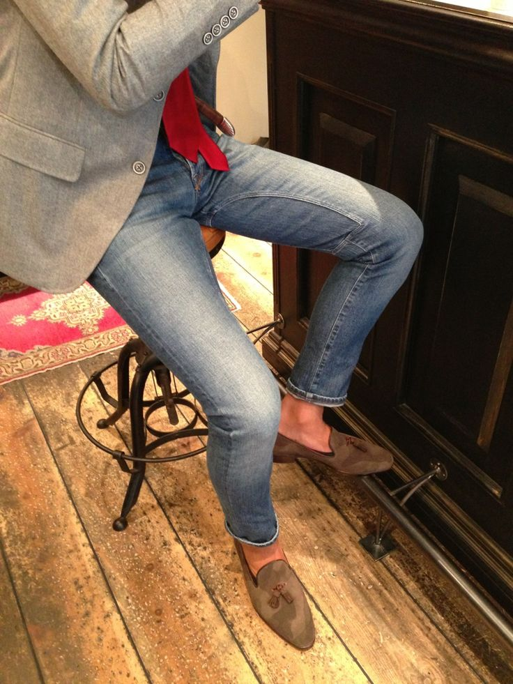 Jeans and tassels loafers menswear style casual | Menu0026#39;s ...