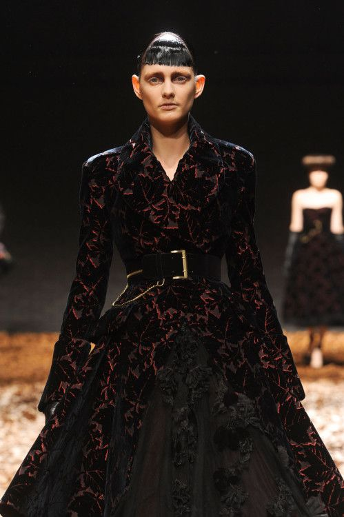 House Blackwood of Raventree Hall, sworn to Riverrun - McQ by Alexander McQueen fall 2012