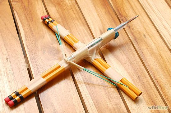 How to Make a Small Crossbow out of Household Items: 12 Steps